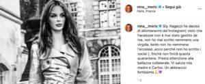 Nina Moric via da Instagram: 'Quando le cose saranno chiare capirai'