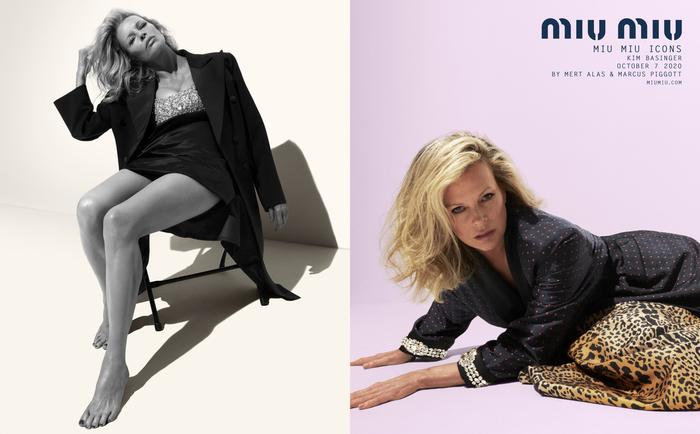 Kim Basinger in posa per Miu Miu Icons